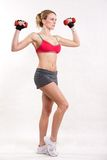 Attractive twenties caucasian fitness woman Royalty Free Stock Photography
