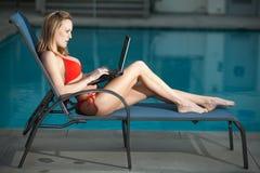 Attractive twenties caucasian woman Stock Images
