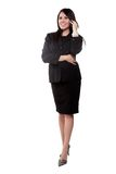 Attractive twenties hispanic businesswoman Royalty Free Stock Photos