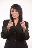 Attractive twenties hispanic businesswoman Royalty Free Stock Photography