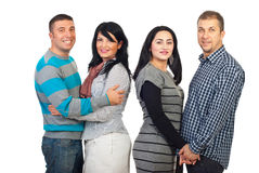 Attractive two couples stock photography