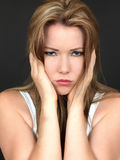 Attractive Unhappy depressed young Woman Royalty Free Stock Images