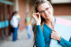 Attractive university student Royalty Free Stock Photos