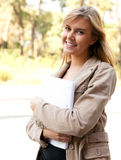 Attractive university student girl Royalty Free Stock Photo
