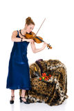 Attractive violinist Stock Photos