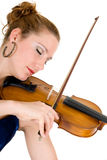 Attractive violinist Stock Image