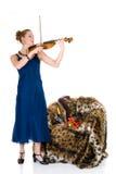 Attractive violinist Stock Photo