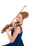 Attractive violinist Stock Image