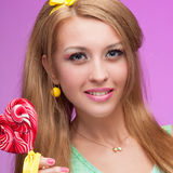 Attractive vivid candy girl Royalty Free Stock Image
