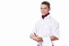 Attractive waiter Royalty Free Stock Photo