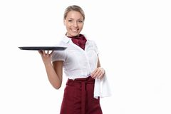 Attractive waitress Stock Image