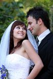 Attractive Wedding Couple Royalty Free Stock Image