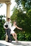 Attractive wedding couple Stock Photos