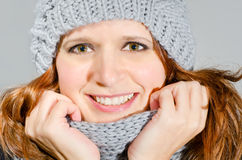 Attractive winter beauty Stock Image