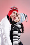 Attractive winter couple Royalty Free Stock Photos