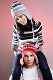 Attractive winter couple Royalty Free Stock Photography