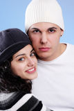 Attractive winter couple Royalty Free Stock Photo