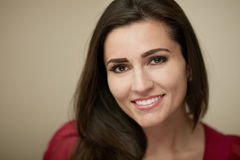 Attractive woman. Attractive smiling young woman closeup portrait Stock Images