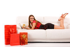 Attractive woman   Royalty Free Stock Images