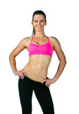 Attractive woman athlete posing Royalty Free Stock Image