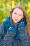 Attractive woman in autumn fashion Royalty Free Stock Photos