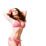 Attractive woman in beach wear Royalty Free Stock Photography