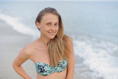 Attractive Woman on Beach Stock Image