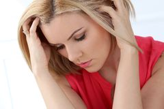Attractive woman with beautiful hair Royalty Free Stock Image