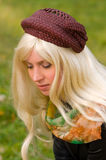 Attractive woman with a beautiful headdress. Attractive young woman with a beautiful headdress Stock Photo