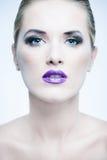 Attractive woman with beautiful makeup. Stock Photos