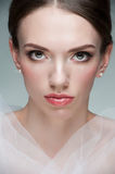 Attractive woman with beautiful makeup Royalty Free Stock Photography
