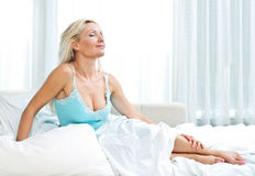 Attractive woman in bed Royalty Free Stock Photo