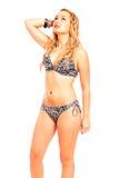 Attractive woman in bikini Royalty Free Stock Photos