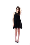 Attractive woman in black dress Royalty Free Stock Image