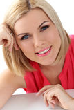 Attractive woman with blue eyes Royalty Free Stock Photo