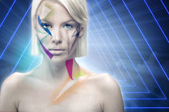 Attractive woman with body art Royalty Free Stock Photography