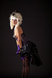 Attractive woman in burlesque outfit Royalty Free Stock Photo