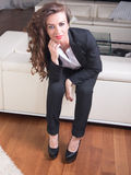 Attractive woman in business outfit Royalty Free Stock Images