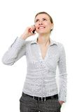 Attractive woman with cell phone Royalty Free Stock Photography
