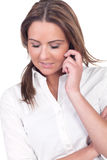 Attractive woman chatting on her mobile Stock Photo
