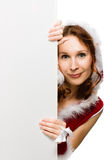Attractive woman in Christmas clothing Royalty Free Stock Image