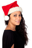 Attractive woman with Christmas hat Royalty Free Stock Image