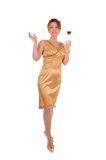 Attractive woman with cocktail stock image