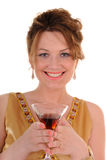 Attractive woman with cocktail Stock Photos