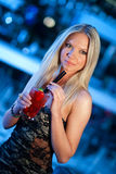 Attractive woman with cocktail Royalty Free Stock Photos