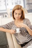 Attractive woman with coffee cup Royalty Free Stock Photography