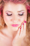Attractive woman with colorful makeup Royalty Free Stock Image
