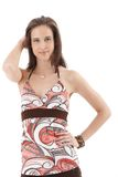 Attractive woman in colorful summer clothes Royalty Free Stock Photography