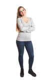 Attractive woman complete body Royalty Free Stock Image