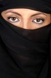 Attractive woman covered by a veil Stock Photos